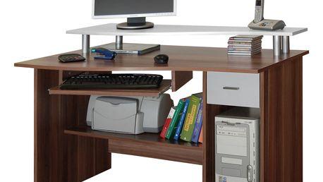 PC stůl LEON švestka/bílá MB LEON-švestka/bílá