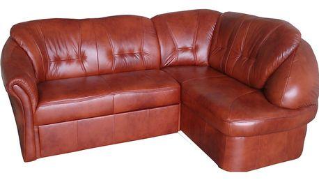 Kožená roh. sedačka SALVADOR, celočalouněná, pravá