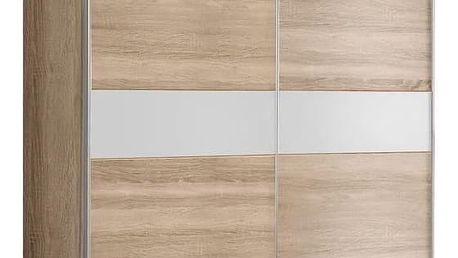 GOULDSTAR, šatní skříň, dub sonoma/bílá