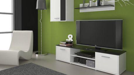 Obývací stěna Zuzana 1, bílá/černá