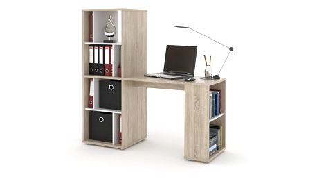 NU psací stůl SETTE, dub sonoma/bílá