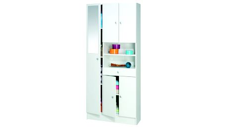 DEMEYERE BICINI, skříňka koupelnová, bílá, 82x32x180 cm