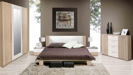 HELLEN, ložnice komplet, dub sonoma/bílá