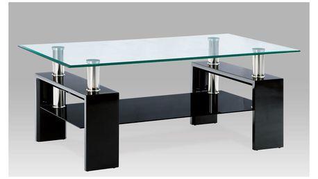 Konferenční stolek KSAF-1024, černá/sklo