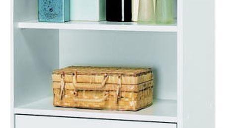 DEMEYERE BICINI, skříňka 2+2D1S, bílá, 50,5x32,9x196,3 cm
