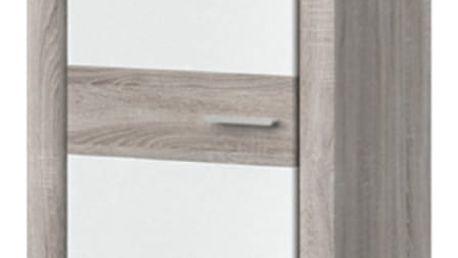 BELINGO typ 01 šatní skříň, dub bardolino/bílá