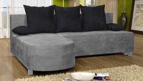 Rohová sedačka WENECJA 5, šedá látka