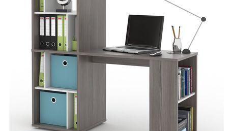 NU psací stůl SETTE, avola/bílá DOPRODEJ