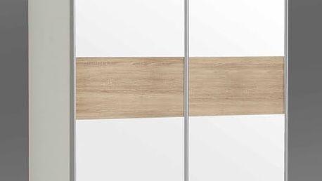 OHIJO, šatní skříň OHS823E1, bílá/dub sonoma