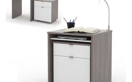 NU psací stůl UNO, avola/bílá DOPRODEJ