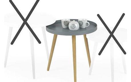 Konferenční stolek MALAGA 2, sv.šedá