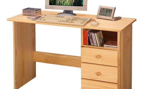 Smartshop PC stůl 8844 lakovaný, dřevěný masiv borovice