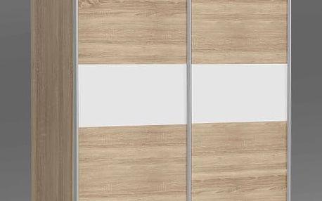 OHIJO, šatní skříň OHS823E1, dub sonoma/bilá