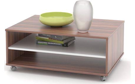 Konferenční stolek ZIU05, švestka/bílá
