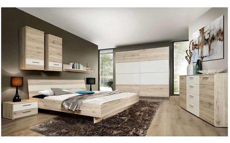 VALERIJE, ložnice, dub pískový/bílá