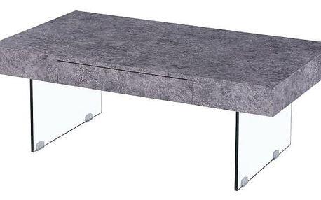 DAISY konferenční stolek, beton/sklo