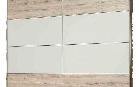 VALERIJE, skříň VALS824E1, dub pískový/bílá