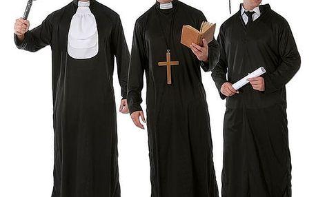 Kostým kněz, soudce a student v jednom