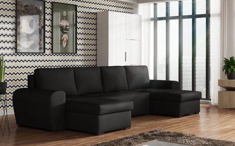 Rohová sedačka FILO U, černá látka