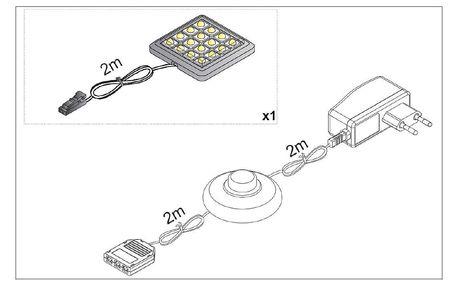 LED osvětlení ALABAMA UNTERBAU II 1x, bílé