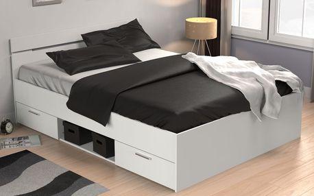 Demeyere postel bílá MACHIGAN 160x200