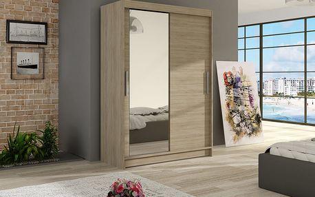 Šatní skříň MAIAMI VI, sonoma/zrcadlo