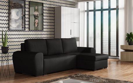 Rohová sedačka FILO, černá látka