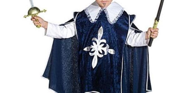 Mušketýr modrý kostým