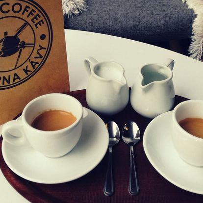 2x káva dle výběru z prémiové hradecké pražírny