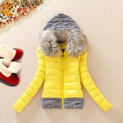 Dámská bunda s pletenými detaily - 5 barev