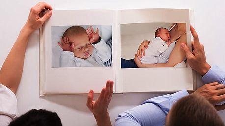 Fotokniha v měkké nebo pevné knižní vazbě z vlastních fotografií v různých formátech