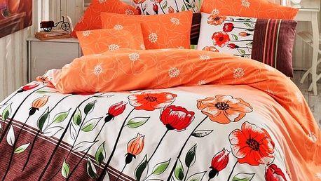 BedTex Bavlněné povlečení Amanda lososová, 140 x 200 cm, 70 x 90 cm