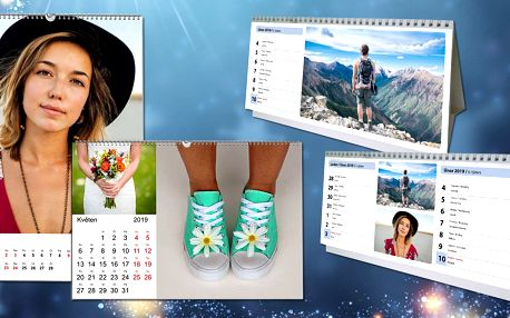 Vytvořte si stolní nebo nástěnné A3 fotokalendáře