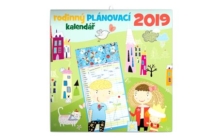 Nástenný kalendář 2019 Rodinný plánovací