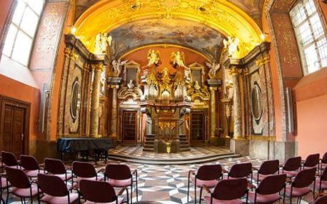 Řijnové koncerty v Zrcadlové kapli Klementina v podání hudebníků Dvořák Symphony Orchestra.