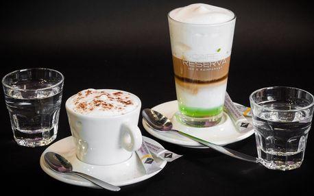 Dvě lahodné kávy dle vašeho výběru s mlékem