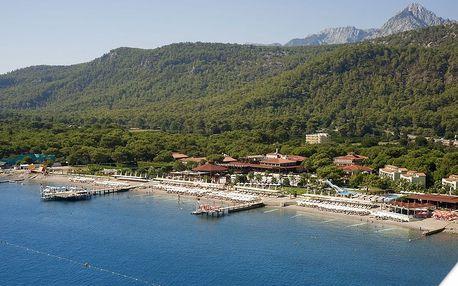 Turecko - Kemer na 8 dní, ultra all inclusive s dopravou letecky z Prahy přímo na pláži