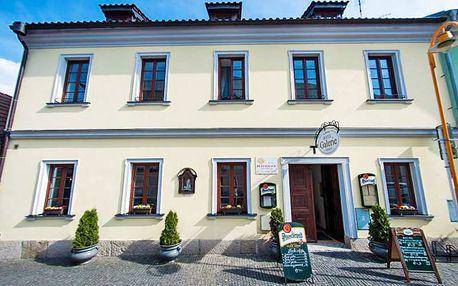 Pohádková romantika: jižní Čechy ve 4* hotelu v centru krásné Třeboně se vstupem do lázní, vínem a polopenzí