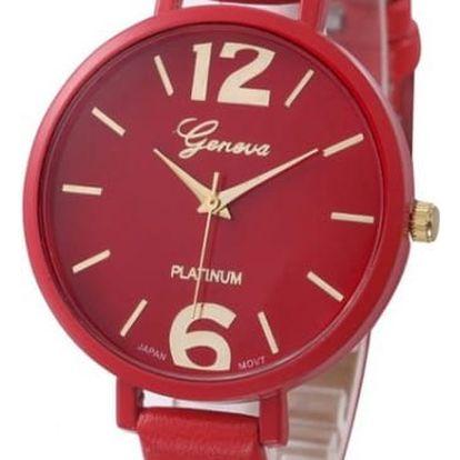 Dámské jednobarevné hodinky - 10 barev