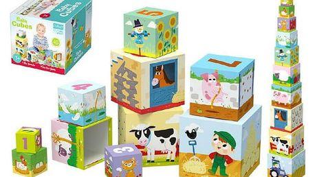 Dětské kostky Na farmě 10 ks