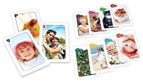 Originální hrací karty s vašimi fotografiemi na prší, poker, kanastu a další