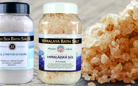 Ozdravující soli do koupele z ryzí přírody