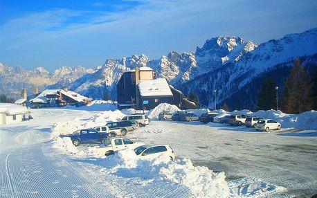 Itálie - Dolomity Superski na 5 dní, polopenze s dopravou autobusem