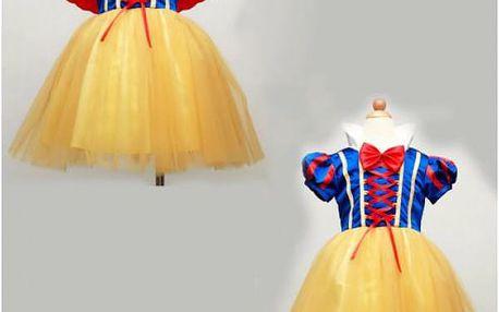 Dětský holčičí kostým šaty Sněhurky