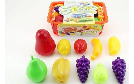 Dětský nákupní košík s ovocem a zeleninou