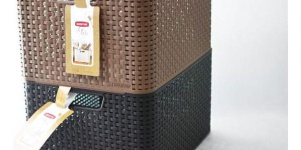 CURVER STYLE BOX 32299 Plastový úložný - L- hnědý2