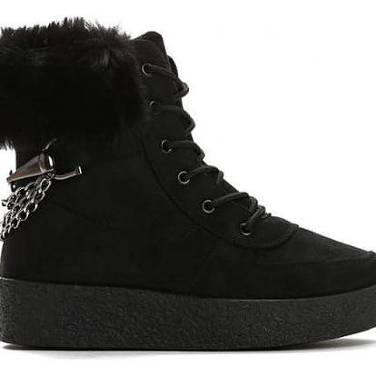 Dámské černé kotníkové boty Zoella 8337