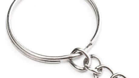 Kroužek na klíče s řetízkem - 50 ks