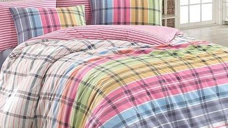 BedTex Bavlněné povlečení Riva fuchsiová, 160 x 200 cm, 2 ks 70 x 80 cm