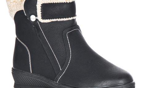 Pazan Dámská kotníčková obuv s kožíškem šíře H
